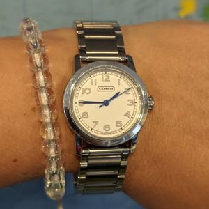 Coach Stainless Steel Watch Blue Hands